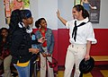 US Navy 110127-N-1752N-137 Gunner's Mate Seaman Kali Morris speaks with children at the George M. Steinbrenner West Tampa Boys ^ Girls Club during.jpg