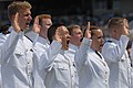 US Navy 110527-N-OA833-011 Navy ensigns take the oath of office during the U.S. Naval Academy Class of 2011 graduation and commissioning ceremony.jpg