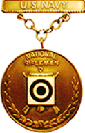 US Navy National Trophy Match Rifleman EIC Badge