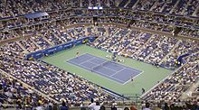 US Open 2007, Maria Sharapova serving.jpg