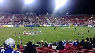 USA Sevens - The United States plays Canada in the 2012 USA Sevens tournament