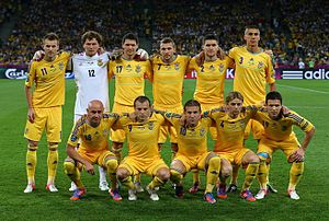 National colours of Ukraine - Ukraine national football team