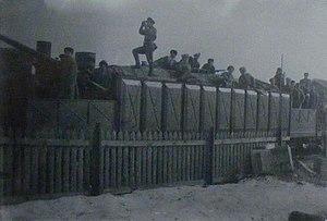 Battle of Antrea - The Red armoured train Ukrainsky Revolutsiya in Vyborg