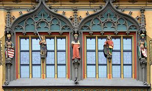 Hans Multscher - Image: Ulm Rathaus Kaiser Fenster 061104