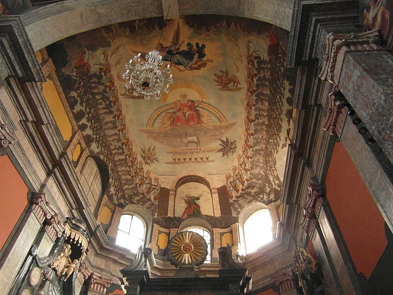 Unionskirche Idstein, ceiling above the altar restored, 2017.jpg