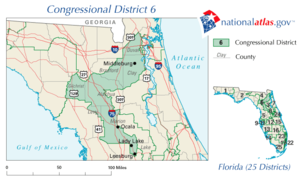 United States House of Representatives elections in Florida, 2010 - Image: United States House of Representatives, Florida District 6 map