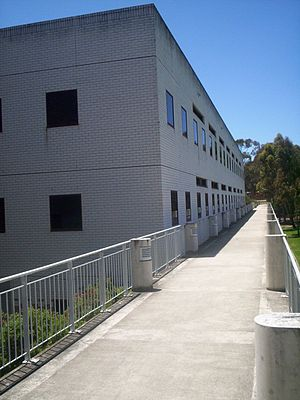 University of Canberra - Building 11, Walkway connecting the refectory with the gym.