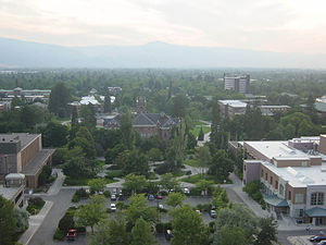 Culture in Missoula, Montana - University of Montana from Mt. Sentinel