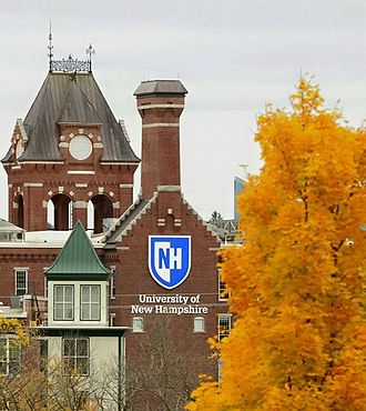 University of New Hampshire at Manchester - An October 2015 photograph of the Pandora Mill, main building of the University of New Hampshire campus in Manchester, New Hampshire