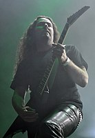 Unleashed, Fredrik Folkare at Party.San Metal Open Air 2013 03.jpg