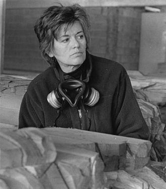 Ursula von Rydingsvard - von Rydingsvard in her Brooklyn studio, 1997