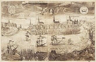 1650 in Sweden - Utsikt över Stockholm till drottning Kristinas kröning 1650