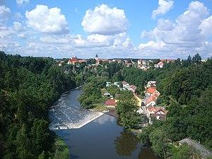 Lužnice (river) - The Lužnice near Bechyně