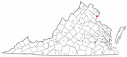 Location of Woodbridge, Virginia