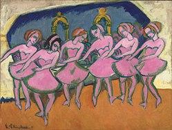 Ernst Ludwig Kirchner: Six Dancers