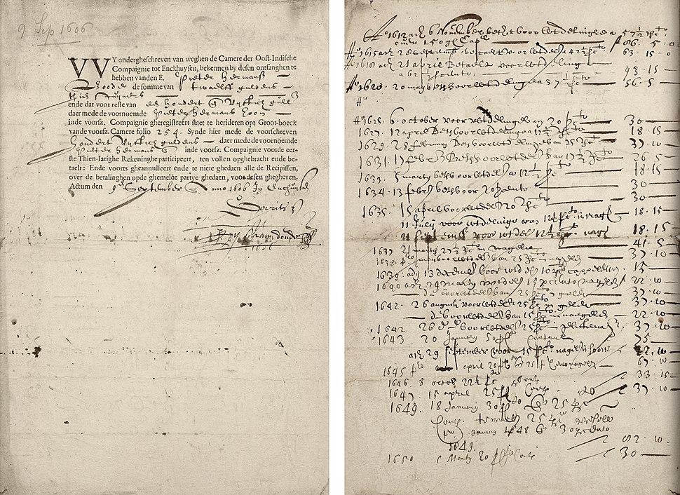 VOC aandeel 9 september 1606