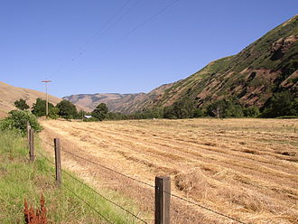 Oregon wine - Valley of the North Fork of the Walla Walla River above Milton-Freewater in Oregon