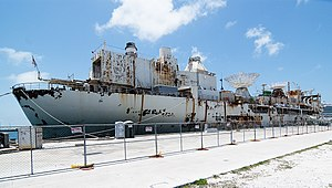 USNS General Hoyt S. Vandenberg (T-AGM-10) - General Hoyt S. Vandenberg at Key West docks in May 2009