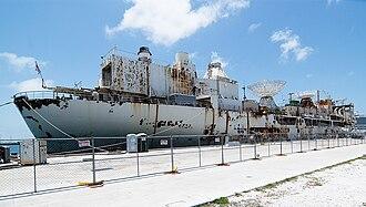 USNS General Hoyt S. Vandenberg (T-AGM-10) - General Hoyt S. Vandenberg at Key West docks in May 2009