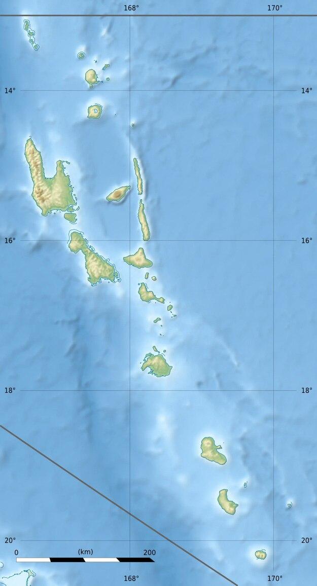 1999 Ambrym earthquake is located in Vanuatu