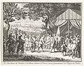 Veldmaarschalken de Chatellon en de Breze begroeten prins Frederik Hendrik, 1632 Les Maréchaux de Chatillon et de Brezé saluent le Prince comme Generalissime des Troupes de France (titel op object), RP-P-AO-11-16B-84.jpg