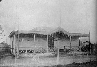 Club Atlético Vélez Sarsfield - Grandstands of the first Vélez Sarsfield stadium, in 1922.