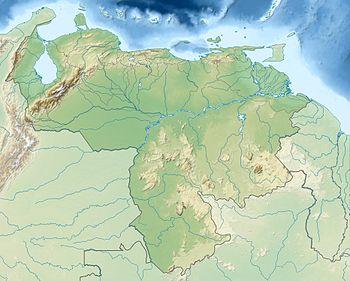 Localización de la Gran Sabana en Venezuela.