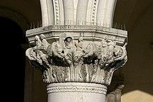 Capitel gótico en el Palacio Ducal de Venecia.