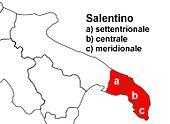 Diffusione del dialetto Salentino