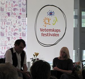 International Science Festival in Gothenburg - Torgny Nordin converses with Ann Heberlein during the festival of 2011