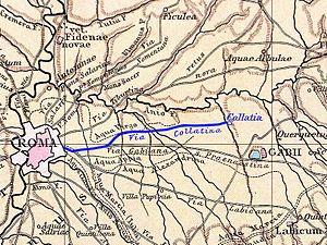 Collatia - Via Collatina, from Rome to Collatia