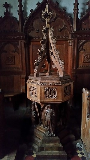 King's Pyon Church - Victorian Font found at West End