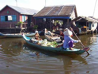"Ethnic groups in Cambodia - A Vietnamese ""floating village"" in Siem Reap Province (2011)"