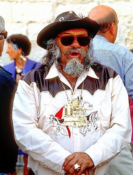 Le roi des gitans lors du pèlerinage aux Saintes-Maries-de-la-Mer
