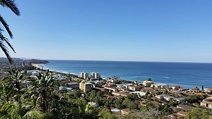 Collaroy Plateau - View from Collaroy Plateau north across Narrabeen beach and lagoon