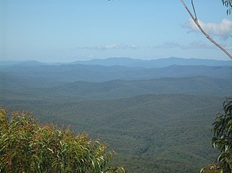 Pigeon House Mountain - Image: View from Pigeon House Mountain