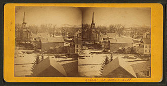 Paris, Maine - View of Paris Hill, a Victorian era stereographic card