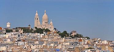Montmartre as seen from the Galeries Lafayette Haussmann