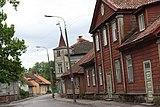 The center of the innerland town of Viljandi
