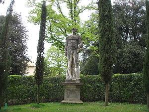 Orazio Marinali - Statue of Giant in gardens of Villa La Pietra