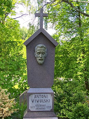 Antoni Wiwulski - Tomb of Antoni Wiwulski in Rasos Cemetery