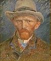 Vincent van Gogh - Zelfportret met grijze hoed.JPG