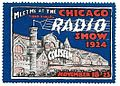 Vintage Radio Show Stamp - Chicago Radio Show at the Coliseum, November 18 - 23, 1924 (11910063913).jpg