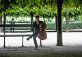 Violoncelliste, Jardin du Palais-Royal, 2013.jpg