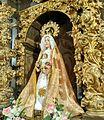 Virgen de la Natividad de Navamorales (Salamanca, España). 1730 aprox. Sustituyó a la anterior imagen que databa de hacia 1507 de la que solamente se conserva la.imagen de niño Jesús.jpg