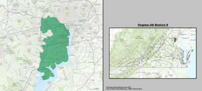 Virginia's 8th congressional district - since January 3, 2013.