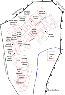 Plan Of Volubilis, Indicating Some Of The Most Notable Buildings