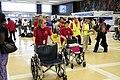 Volunteers go to arriving trains to help returning evacuees in Louisiana.jpg