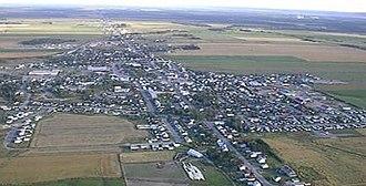 Normandin, Quebec - Image: Vue aérienne ville de normandin