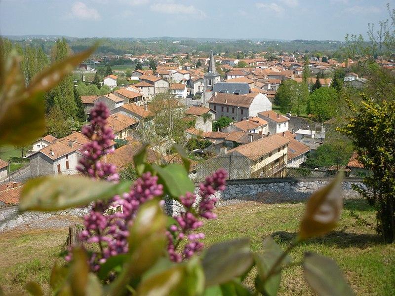 From Notre-Dame des sept douleurs Chapel,  view of Miramont-de-Comminges, Haute-Garonne, France.